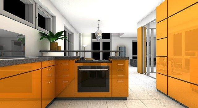 žlutá kuchyně