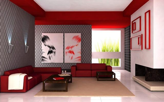 červený obývák