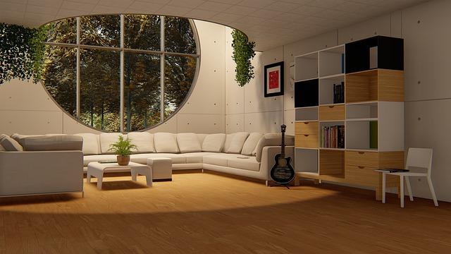 Moderně zařízený obývací pokoj